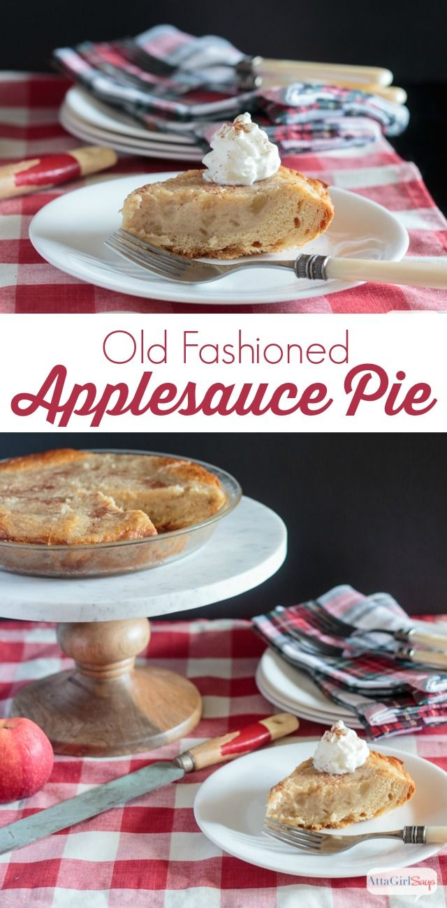 For years, my husband has talked about his grandmother's applesauce pie recipe. But Grandma didn't write it down, so no one has been able to figure it out exactly. My version of applesauce pie has a biscuit crust, and it's very similar to bread pudding. It's delicious served warm with ice cream. #ad #warmtraditions