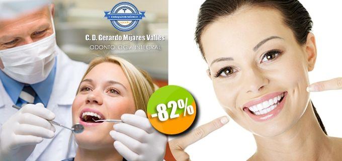 Dr. Gerardo Mijares Valles - $100 en lugar de $550 por 1 Limpieza Dental con Ultrasonido y Pasta Profiláctica + 1 Plan de Tratamiento. Click: CupoCity.com