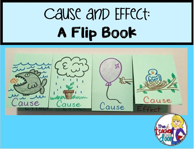 Making a flip book and lots of other ideas for teaching Cause and Effect Using Informational Text!