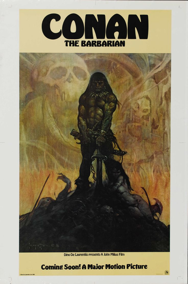 A poster announcing Conan the Barbarian (1982) before casting was locked in.