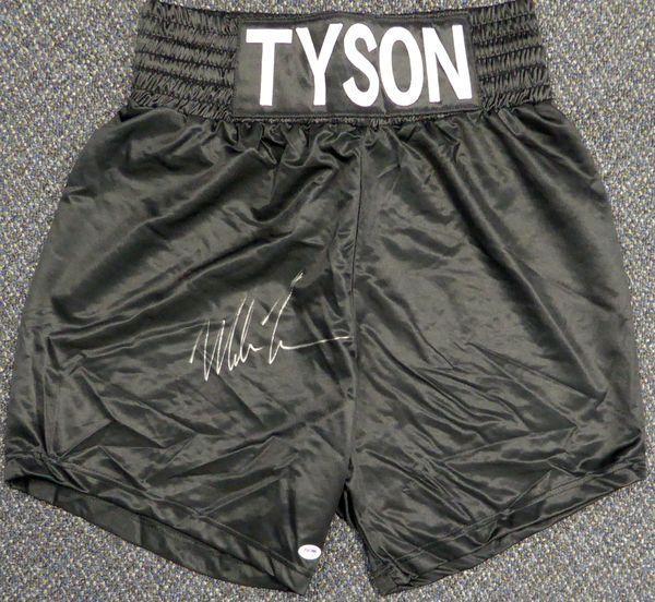 Mike Tyson Autographed Black Boxing Trunks PSA/DNA #X62598