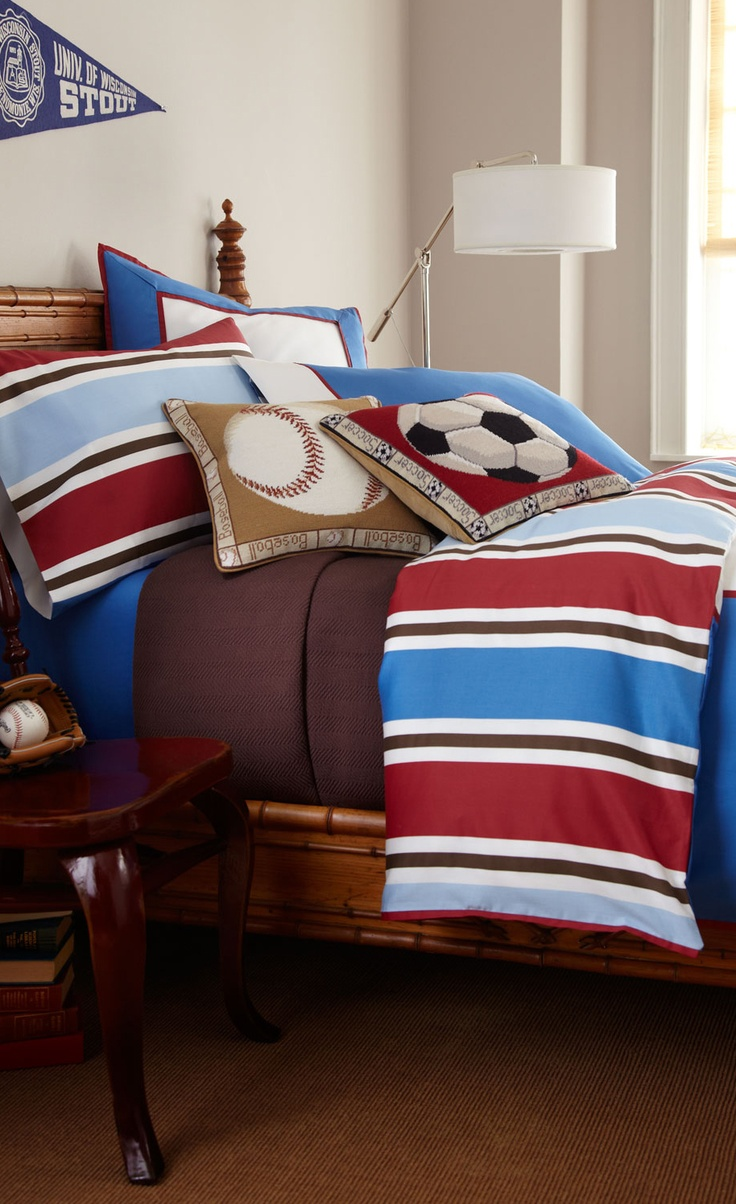 Boys sports bedding - Chambray Sports Bedding Boys Bedrooms Home Decor