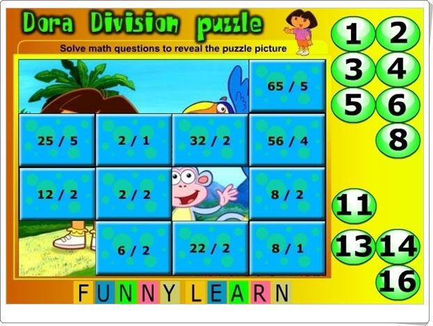 """""""Dora Division Puzzle"""""""