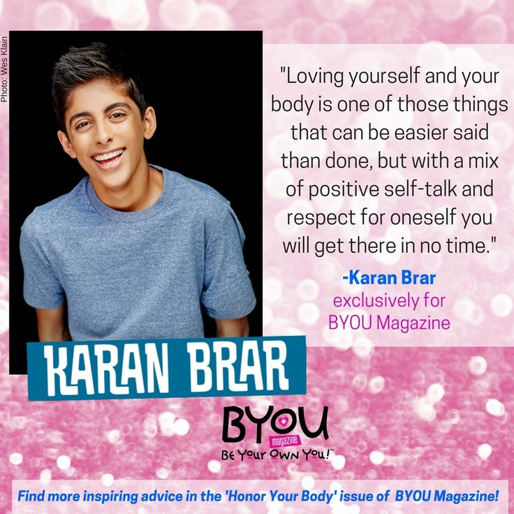 #BUNKD star, Karan Brar gives advice in the #HonorYourBody issue; on newsstands now: BYOUmagazine.com/ella-anderson-cover