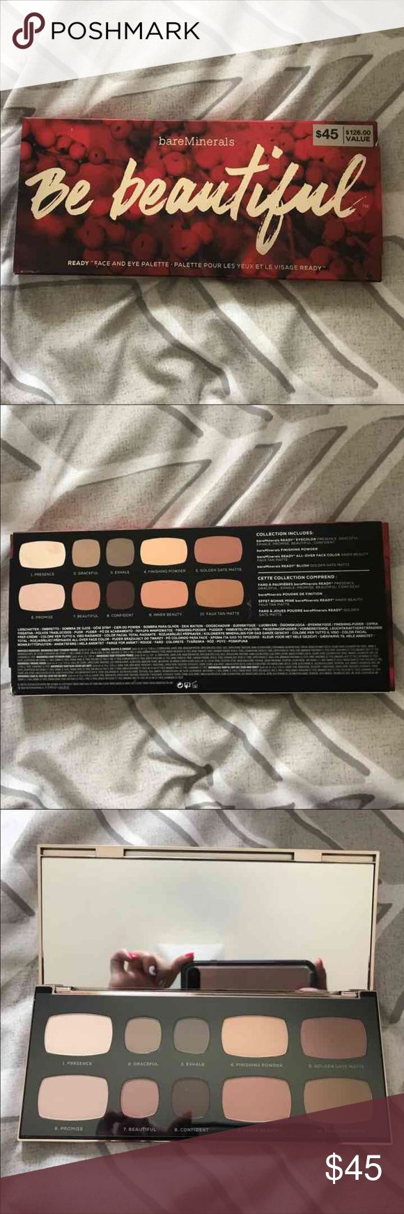 Be Beautiful Bare Minerals Palette Flawless. Never used or swatched. Only opened for picture. Bought it thinking I'd use it and don't bareMinerals Makeup Face Powder