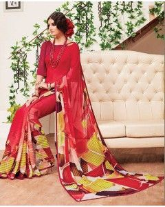 Beautifull Georgette Printed Saree