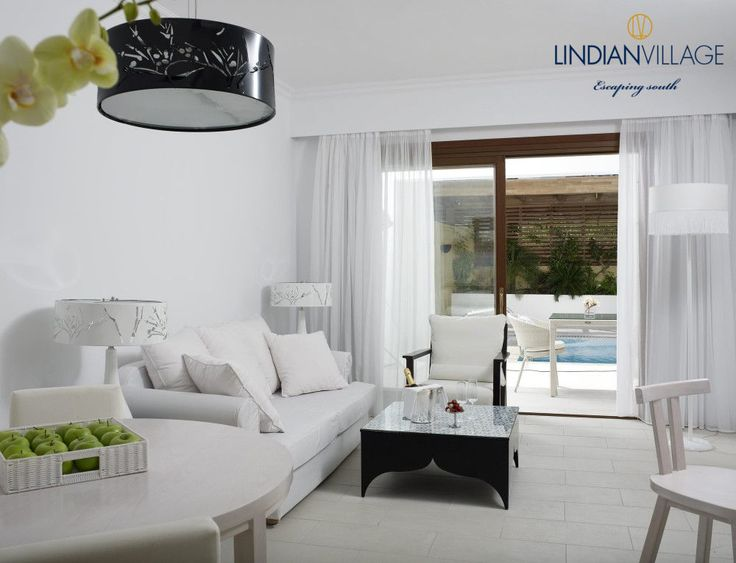 All white bliss in Rhodes…your absolute retreat! More at lindianvillage.gr