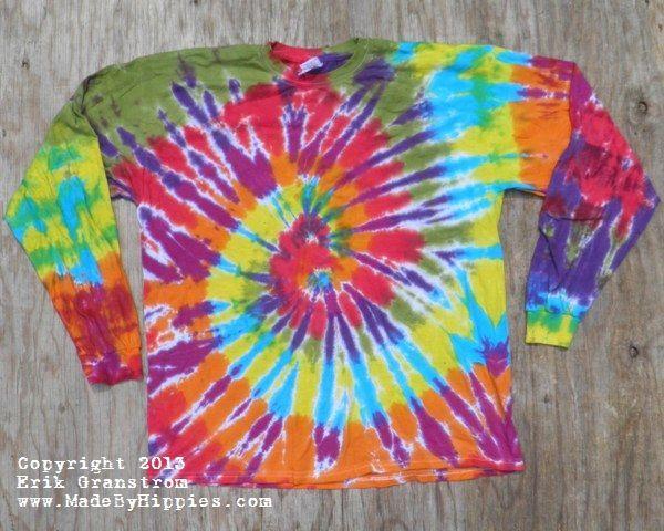 Rainbow Spiral Tie Dye Longsleeve Shirt.