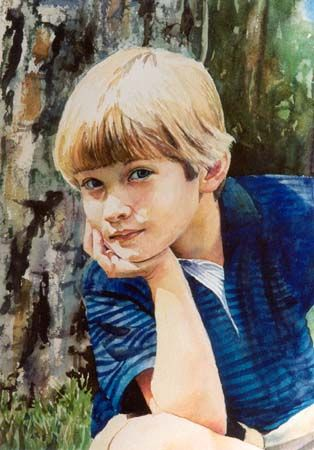 Jane Paul Angelhart - Luxury Watercolor Portraits