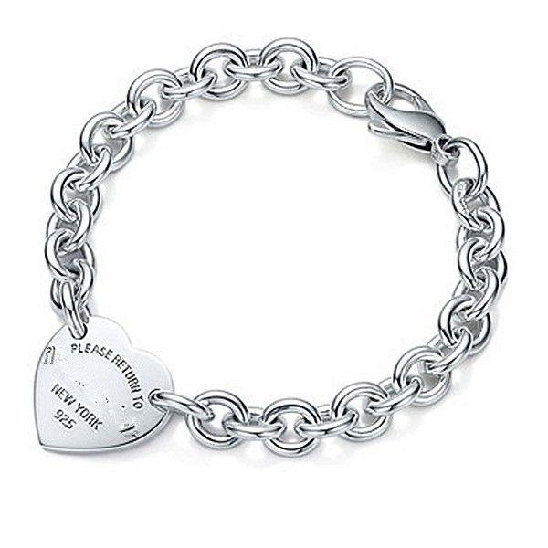925 braccialetto d'argento, 925 argento jewelryheart bracciale con tag, 925 argento catena del braccialetto delle donne LL54 in        Prodotto introduce:             1. condition: 100% brand new        2. brand: oem        3. gender: donne  da Chain & braccialetti di collegamento su AliExpress.com | Gruppo Alibaba