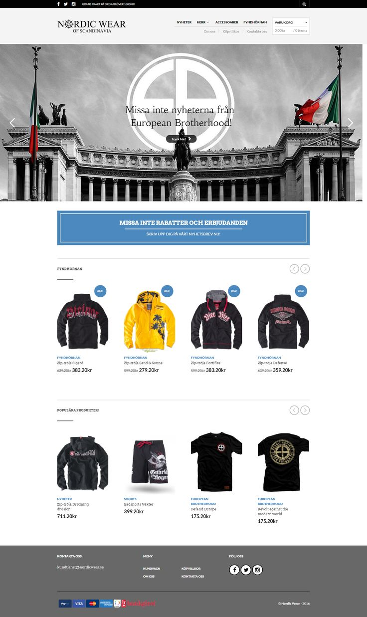 nordicwear.se, built with the top-selling WordPress theme, The Retailer https://themeforest.net/item/the-retailer-responsive-wordpress-theme/4287447?utm_source=pinterest.com&utm_medium=social&utm_content=nordic-wear&utm_campaign=showcase #wordpress #design #UX #UI #websites #retail #nordicwear