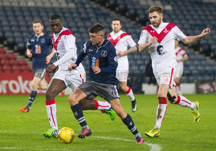 Queen's Park's Paul Woods in action during the Ladbrokes League One game between Queen's Park and Airdrieonians.