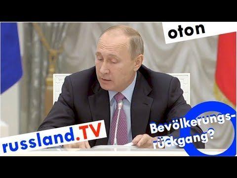 Putin zu Russlands Demografie auf deutsch - YouTube