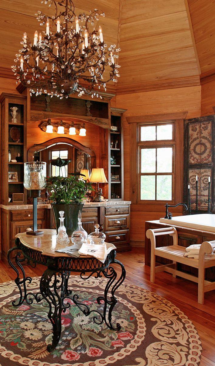 Rustic Bathroom Design #rustic #home #decor