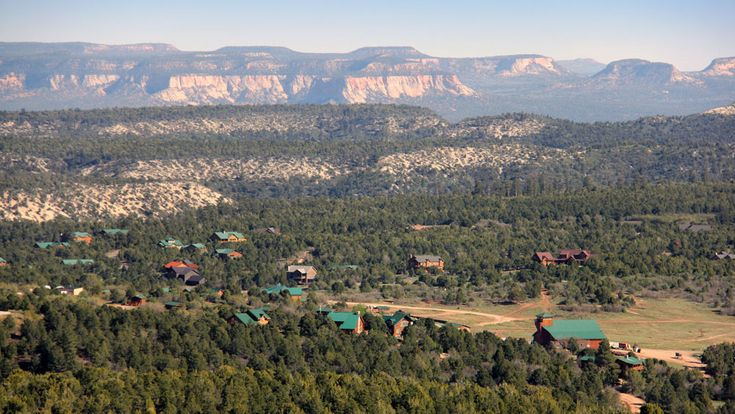 Zion Ponderosa Ranch Resort sits at 6,500′ above sea level. Our 4,000-acre ranch and resort is part of a large forested plateau that borders the eastern edge of Zion National Park and just a short drive from Bryce Canyon National Park. Click here to see an aerial view of Zion Ponderosa and Zion National Park |  Zion National Park and Zion Ponderosa Ranch Resort Information