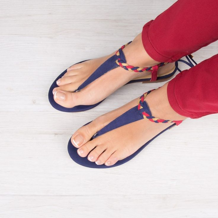 Sandales : La Choupinette - Bleu Cobalt