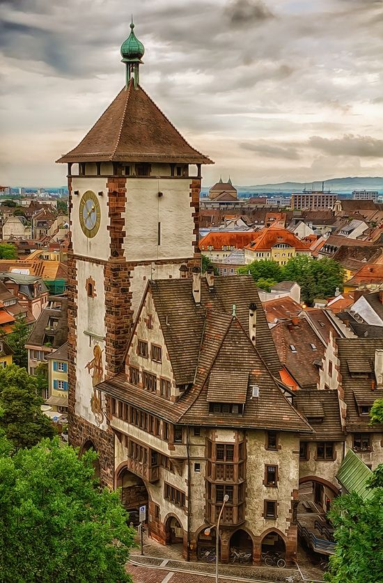 Freiburg, Germany (Still have the souvenirs we bought here on our honeymoon - S.P.)