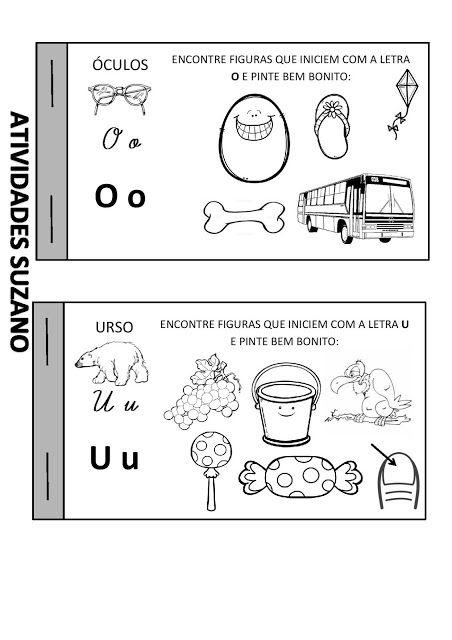 Livrinho das vogais - Atividades Adriana