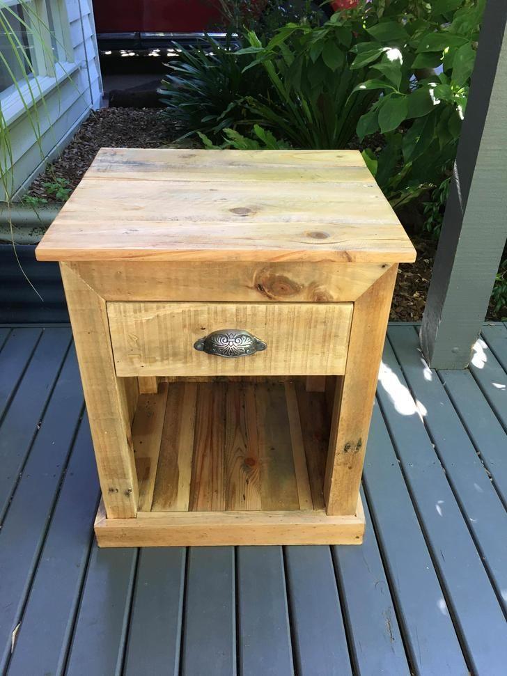 Pallet Wood Bedside Table Pallet Night Stands Rustic Bedside