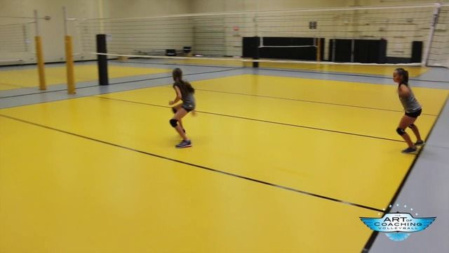Warmup Drill To Teach Fast Footwork The Art Of Coaching Volleyball Coaching Volleyball Volleyball Drills Volleyball Skills