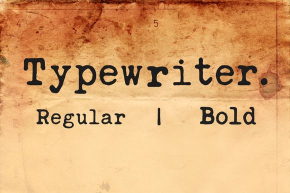 Check out Typewriter Font by monogram on Creative Market
