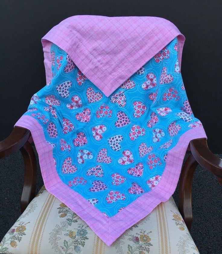 Baby Blanket Baby Girl Reversible Blanket Self Binding