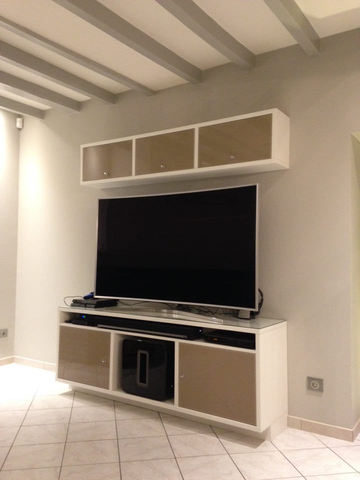 Meuble tv design ls agencement 76 ed system mobilier for Meuble bibliotheque design