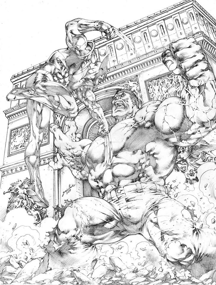 Wolverine Vs Hulk At The Arc De Triomphe By Jose Luis Joseluis Arcdetriomphe Wolverine Logan Jameshowle Avengers Coloring Pages Hulk Art Avengers Coloring