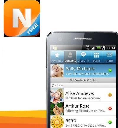 La aplicación para hablar gratis Nimbuzz Messenger sirve para chatear y llamar gratiscon tus amigos.