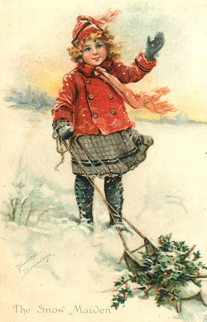 Картинках выходом, винтажные открытки дети рождество