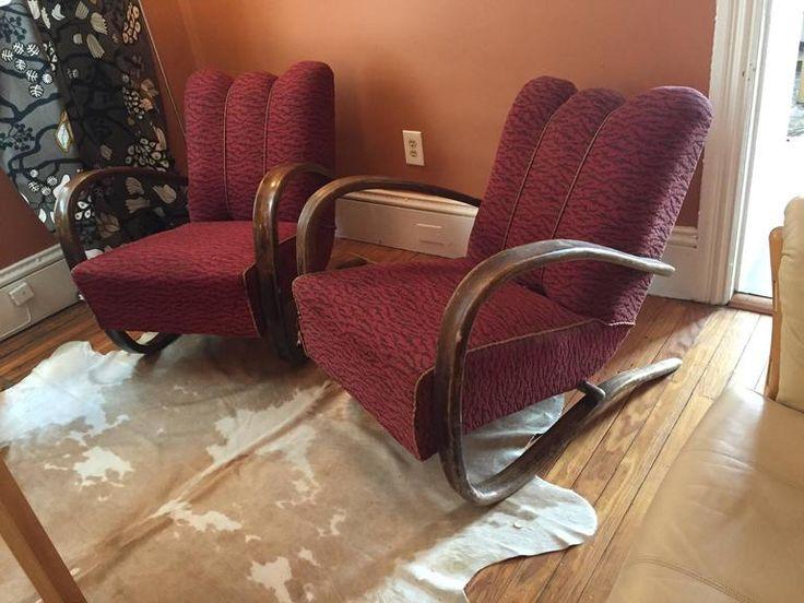 "Pair of Jindrich Halabala ""H269"" Chairs 5"