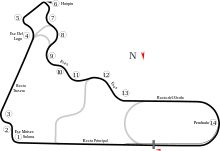 Mexican International Racing Circuit - Autodromo Hermanos Rodriguez 4.304km's