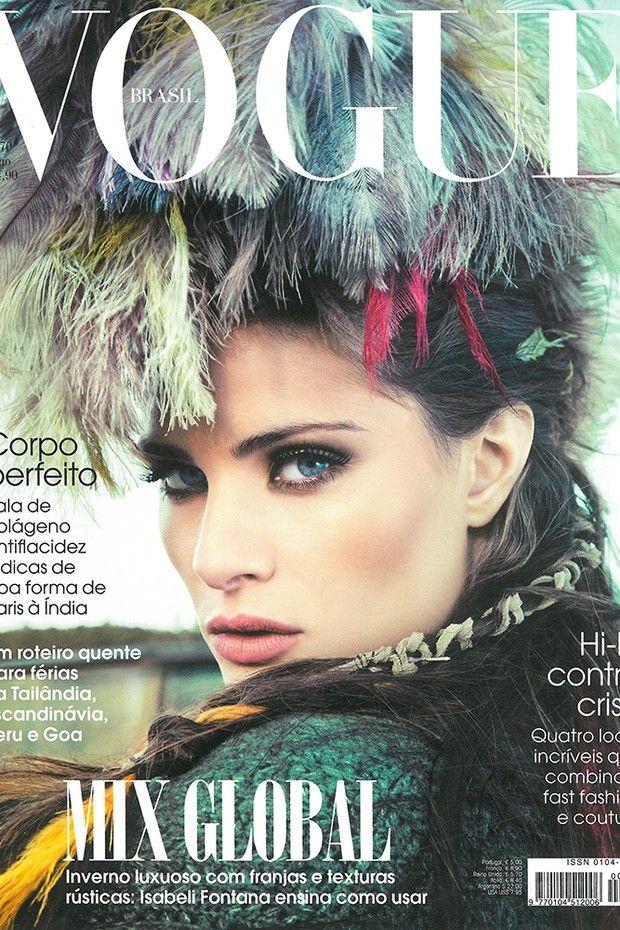 Isabeli Fontana: a recordista de capas da Vogue Brasil  (Foto: Editora Globo)