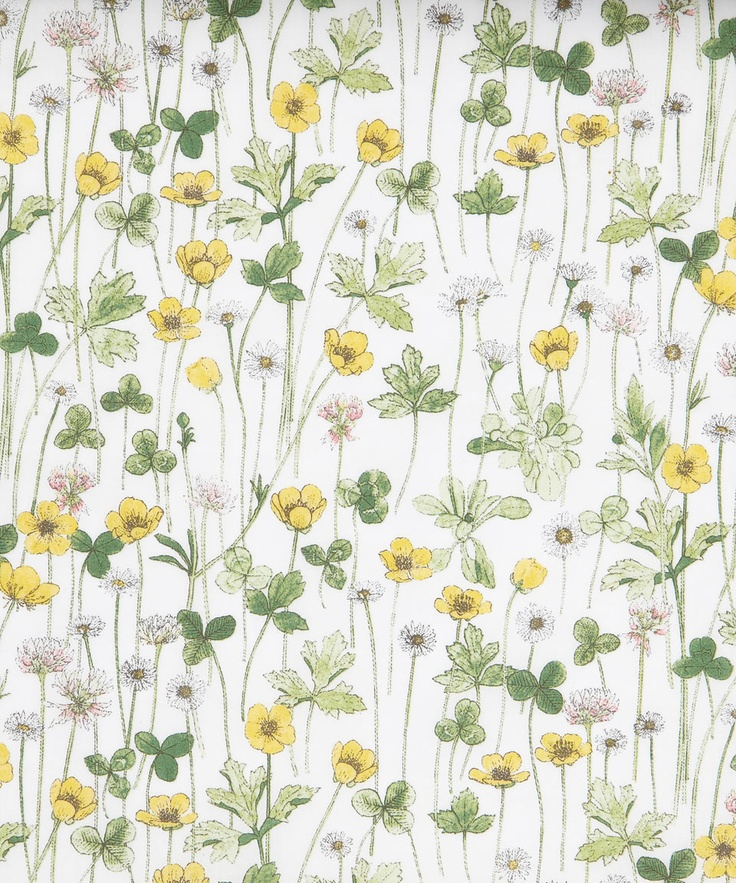 Beautiful, delicate Liberty Art floral and clover fabric