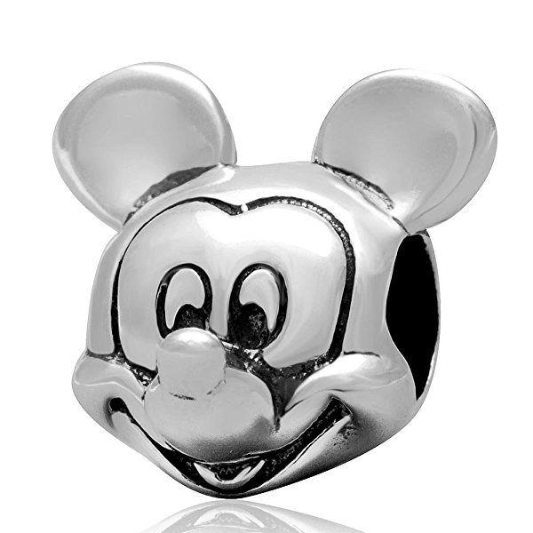 "Andante-Stones 925 Sterling Silber Bead ""Mickey Mouse"" Element Kugel für European Beads Modul Armband + Organzasäckchen"