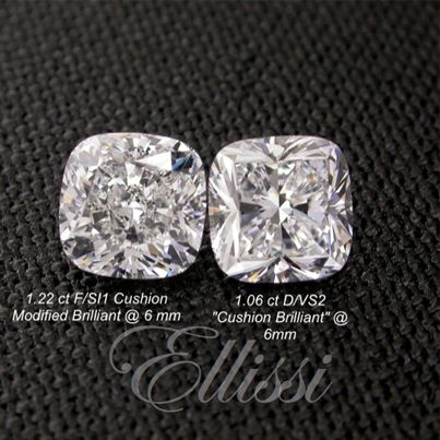 Look at the difference #diamond selection makes...weight does not equal size when it comes to choosing the right #rock.