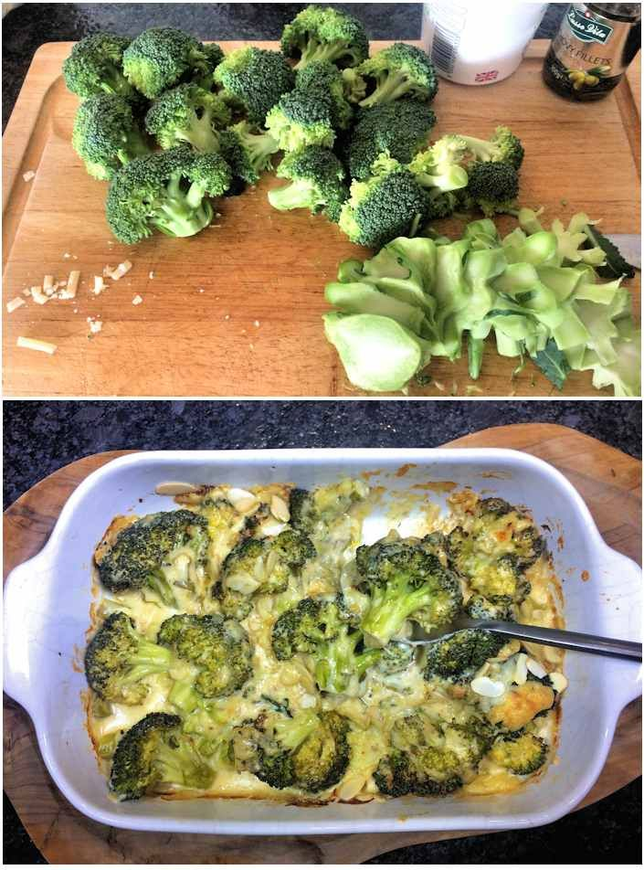 Broccoli cheese spiced up with anchovies and Cayenne pepper, an excellent alternative to cauliflower cheese.