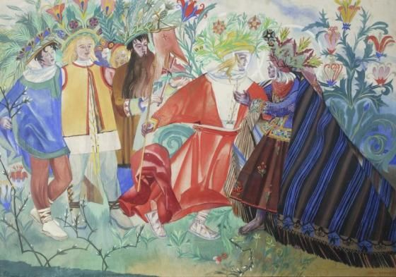 """Zofia Stryjeńska, """"Spotkanie z Synem"""" z cyklu Pascha, 1917, Muzeum Narodowe w Warszawie"""