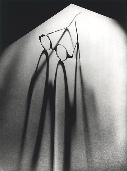 Glasses, 1937 by Olive Cotton (Australian, 1911- 2003, married to photographer Max Dupain in 1939, but not for long).