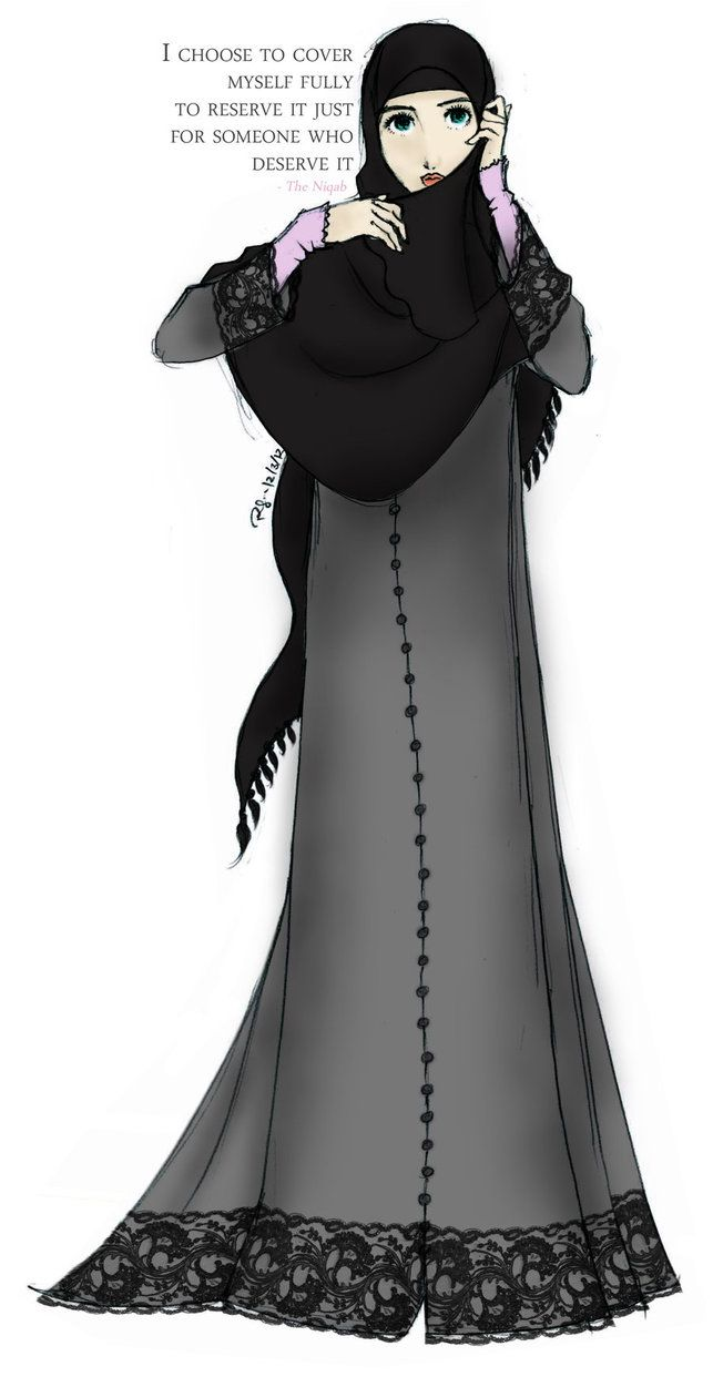 Niqab by ~finieramos on deviantART Beautiful, love the message