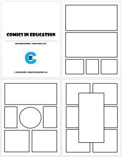 This pdf contains 20 pre-made comic panel layouts, great for teachers  who are looking to have students create comics or graphic stories in the  classroom. Each of the panel layouts is different and allows students  to do everything from a simple three or four page linear panel sequence to those that are perfect for flashbacks, flash forwards, and non-linear narratives.