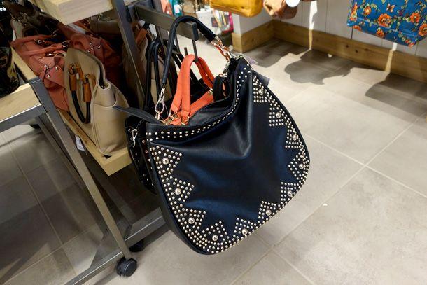 Big Buddha black studded purse