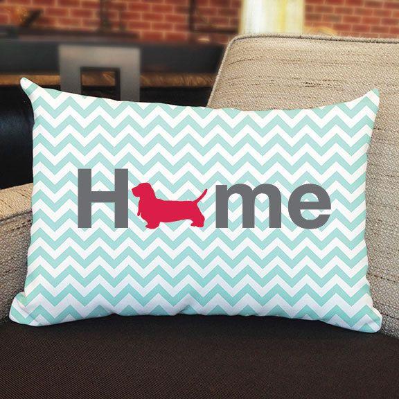 Righteous Hound - Basset Hound Home Pillow, $28.00 (http://www.righteoushound.com/Home-basset-hound-Pillow/)