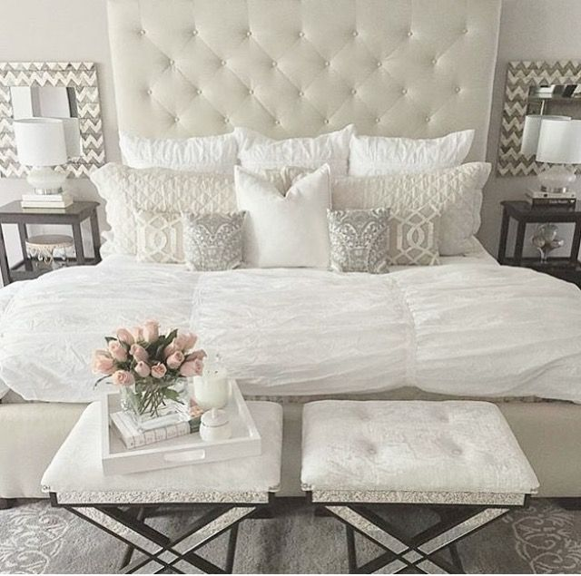 25+ best White Headboard ideas on Pinterest | Grey fur throw ...