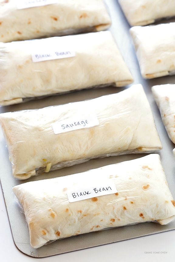 Freezer Breakfast Burritos -- easy to make, customize, and reheat, and SO tasty! | gimmesomeoven.com