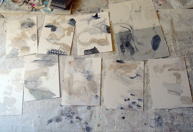 Automatic drawings in oil by mayakonakamura, via Flickr