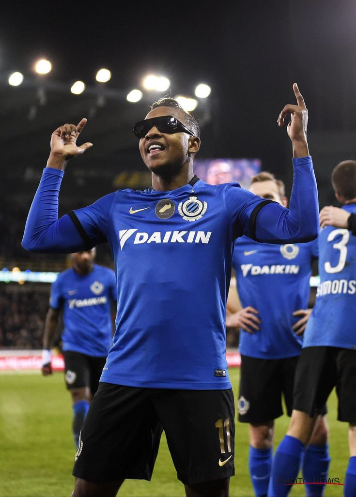 https://flic.kr/p/SewQ7z | Club - Zulte Waregem 24-02-2017 | BRUGGE, BELGIUM - FEBRUARY 24 :  Jose Izquierdo forward of Club Brugge celebrates with teammates after scoring during the Jupiler Pro League match between Club Brugge and SV Zulte Waregem at the Jan Breydel stadium on February 24, 2017 in Brugge, Belgium, 24/02/2017 ( Photo by Philippe Crochet  Photo News  / Photonews