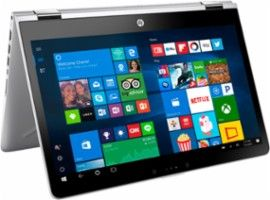 "HP - 2-in-1 14"" Touch-Screen Laptop - Intel Core i3 - 6GB Memory - 500GB Hard Drive - HP finish natural silver - AlternateView13 Zoom"