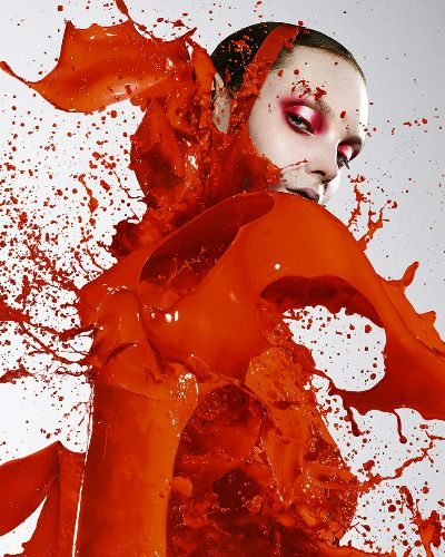 """INSPIRATION: """"PAINT THE TOWN ROUGE"""" Collision of color from body to eyes. PHOTO: Ian Crawford"""