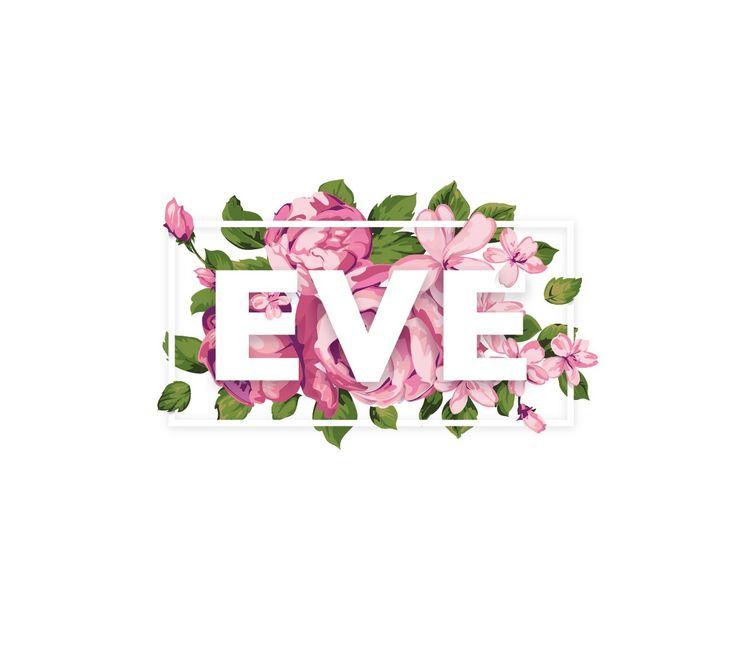 И белый вариант логотипа для Eve